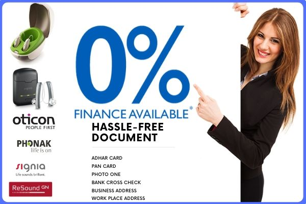 Hearing Aid Finance On 0% intreast monthly scheme